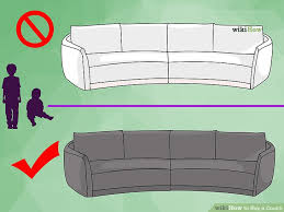 Depth Of A Sofa How To Buy A Couch 11 Steps With Pictures Wikihow