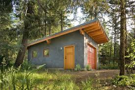 Slanted Roof House Garage Shed Garage Contemporary With Slanted Roof Stucco Siding