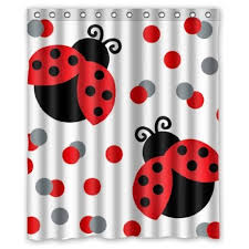 Ladybug Curtains Baby Buy Ladybugs Bugs Water Resistant Shower Curtains Shower