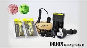 Coyote Hunting Lights Orion M30c Predator Hunting Light Kit 377 Yards 700 Lumens For