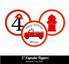 firefighter cupcake toppers firefighter cupcake toppers firetruck cupcake toppers dalmatian