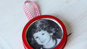 Christmas Ornament With Photo Mason Jar Lid Photo Ornament Youtube