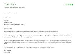 resignation letter it resignation letter sample with notice