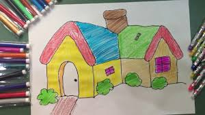 coloring house coloring fun games children drawing colours for