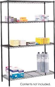 Commercial Wire Shelving by Safco 5241bl Commercial Wire Shelving Includes 4 Shelves 4 Posts