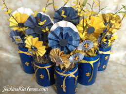 blue and gold decoration ideas jenkins kid farm blue and gold banquet centerpiece lollies in a can