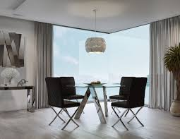 Modern Dining Sets Adam Round Glass Dining Table For Your Dining Space