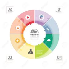 abstract circle infographic design minimal style template