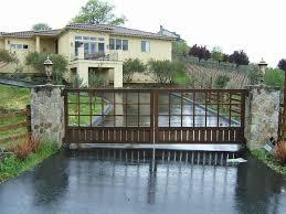 gate entrance with rock for slope house design antiquesl com