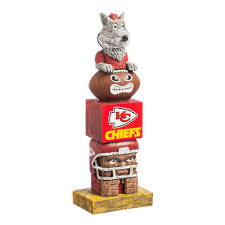 evergreen kansas city chiefs tiki totem garden statue 843815tt