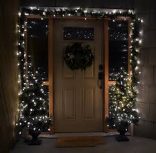 decorations white lighted front door decoration come