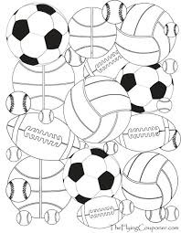 free printables colouring pages adults kids sport balls