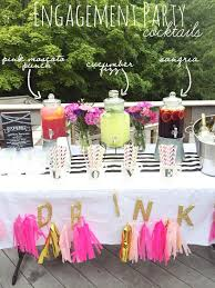 Engagement Party Decoration Ideas Home Best 25 Drink Table Ideas On Pinterest Drink Station Wedding
