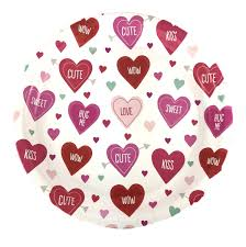valentines day heart candy pink heart plate valentines day bachelorette party supplies