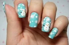 16 snowy winter nail art ideas