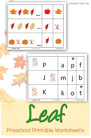 fall leaves printables and activities for kids