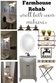 Small Bathrooms Design Farmhouse Rehab Small Bathroom Makeover