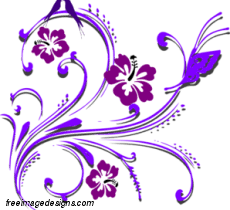purple butterfly and flowers image free image