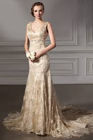 gold wedding dresses gold lace wedding dress luxury brides