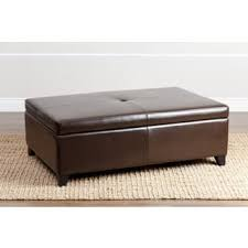 Leather Storage Ottoman Leather Storage Ottoman For Less Overstock Com
