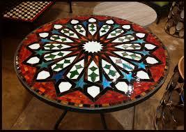 Tiled Patio Table 36 Mosaic Patio Table Patio Furniture Conversation Sets