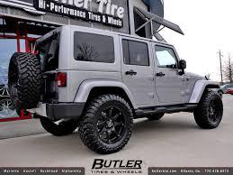jeep jk black wheels jeep wrangler with 20in black rhino glamis wheels a photo on