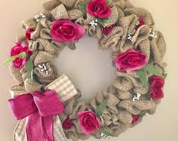 shabby chic wreath etsy