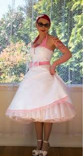 wedding dress 50s rockabilly pin up full skirt style organza
