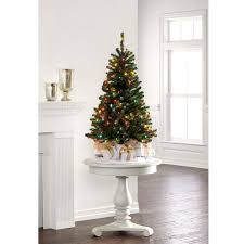 White Christmas Tree Multicolor Decorations by 4 Ft Pre Lit Hillside Pine Artificial Christmas Tree Multicolor