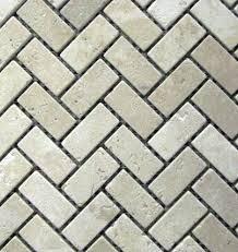 Herringbone Tile Floor Kitchen - herringbone 1x2 tumble classic beige travertine for kitchen