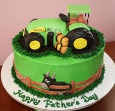 john deere cake with tractor made of rice krispie treats and