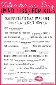 valentine u0027s day mad libs free printable from www