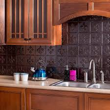Fasade  In X  In Fleur De Lis PVC Decorative Tile Backsplash - Pvc backsplash
