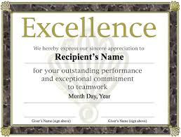 Free Certificate Of Excellence Template 11 Best Images Of Free Award Certificate Templates Sle