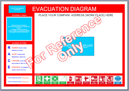 evacuation floor plan template map template