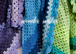 wonder wishes crocheting scarves with caron cakes