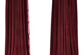 Burgundy Velvet Curtains Signature Burgundy Doublewide Blackout Velvet Curtain Decorating
