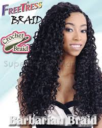 crochet braids with human hair freetress synthetic crochet braid bulk barbadian braid 5 99
