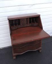 Antique Slant Top Desk Worth Mahogany Secretary Desk Ebay