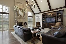 Chic Family Room Leather Furniture Family Room Decorating Ideas - Family room furniture design ideas