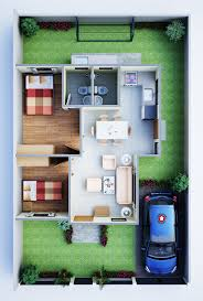 100 house perspective with floor plan house design and
