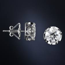 diamond stud earings 4 83 carat antique diamond stud earrings at 1stdibs