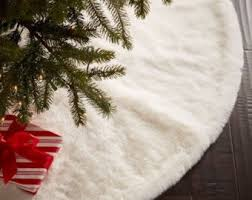 faux fur tree skirt etsy with white fur christmas tree skirt