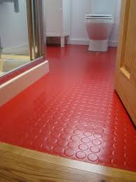red rubber flooring from polyflor in bathroom bathroom