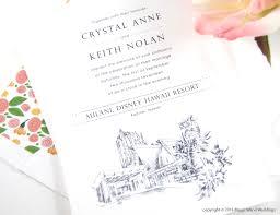 wedding invitations hawaii aulani disney hawaii skyline wedding invitations