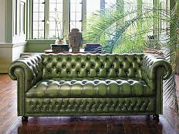 Chesterfield Leather Sofa Bed Green Leather Chesterfield Sofa Furniture Favourites