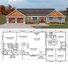 Four Bedroom Bungalow Floor Plan Best 25 4 Bedroom House Plans Ideas On Pinterest House Plans