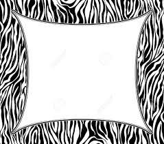 zebra print clip art border u2013 101 clip art
