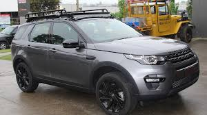 mercedes land rover matte black discovery sport roof racks
