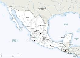 political map of mexico vector map of mexico political one stop map